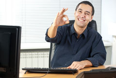 Business Man Gestures Stock Photography