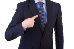 Businessman gesturing with hand. Stock Photography