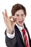 Business Man Gesturing OK Stock Image