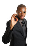 Business man gesturing okay Royalty Free Stock Photo