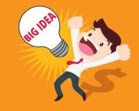 Business man get big idea Stock Photography