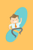 Business man get competitor attack Stock Images