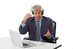 Business man getting ideas Royalty Free Stock Photography