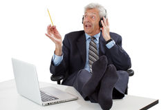 Business man getting ideas Stock Image