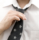 Business man getting ready for work Royalty Free Stock Photo