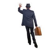 Business man getting somebody's attention Royalty Free Stock Photo