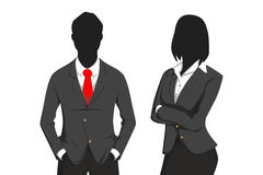 Business man and girl Stock Image