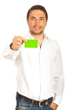 Business man give green card Royalty Free Stock Image