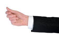 Business man give somehting. Isolated business man hand give somehting Royalty Free Stock Photography