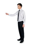 Business man give something Royalty Free Stock Photography
