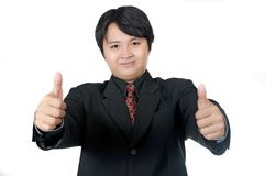 Business Man Give Thumbs Stock Photos