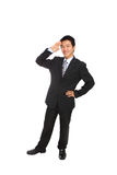 Business man gives salute Royalty Free Stock Images
