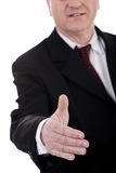 Business man gives shake hand Stock Images