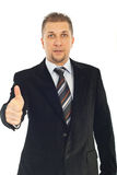 Business man gives thumbs Royalty Free Stock Images