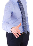 Businessman giving hand. Stock Images