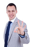 Business man giving OK Stock Image