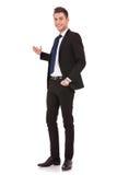 Business man giving presentation Royalty Free Stock Photos