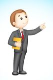 Business Man giving Presentation Royalty Free Stock Image