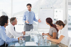 Business man giving a presentation Stock Image