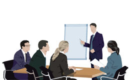 Business man giving presentation or training Royalty Free Stock Images