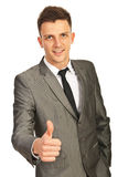 Business man giving thumb up Royalty Free Stock Images