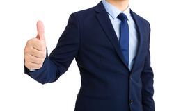 Business man giving thumb up, Stock Photo
