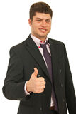 Business man giving thumbs Royalty Free Stock Photo