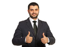 Business man giving thumbs Stock Photography