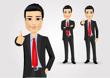 Business man giving thumbs up Royalty Free Stock Photo