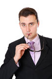 Business man with glasses Royalty Free Stock Photography