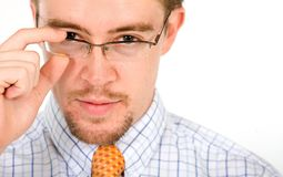 Business man with glasses Royalty Free Stock Images