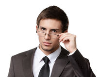 Business man in glasses Stock Photography