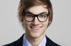 Business man with glasses. Portrait of a handsome business man wearing glasses Stock Images