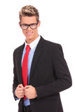 Business man with glasses smiling Stock Photography