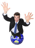 Business Man Global Success Royalty Free Stock Photography