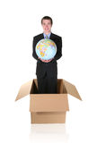 Business man with Globe Stock Image