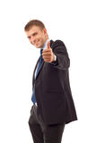 Business man going thumb up Royalty Free Stock Images