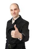 Business man going thumb up Stock Photos