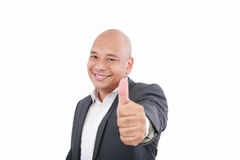 Business man going thumb up Royalty Free Stock Photography