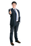 Business man going thumb up Stock Photography