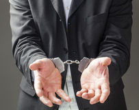 Business man going to prison Stock Photos