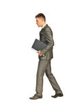 Business man going to work Royalty Free Stock Photo