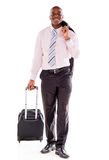 Business man going on a trip Royalty Free Stock Image