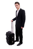 Business man going on vacactions Stock Photography