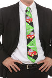 Business Man With Golf Tie. A business man with a golf sport tie Stock Image