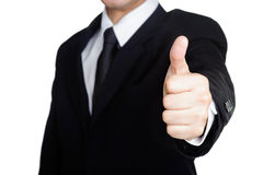 Business man good hand sucess Visit isolated stock image