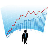 Business man graph chart curve success concept Royalty Free Stock Photography