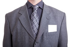 Business man with gray suit Royalty Free Stock Photos