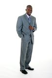 Business Man in Gray Suit Stock Photo