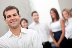 Business man with a group Stock Photo